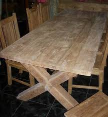 HABITATS INDONESIA - Reclaimed teak dining table and chairs