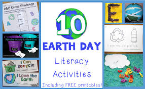 earth day literacy activities for preschool and early elementary