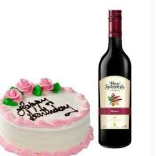 wine birthday gifts buy birthday gift wine and cake express delivery online best