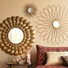 Gold Wall Decor by Gold Burst Mirror Pier 1 Imports