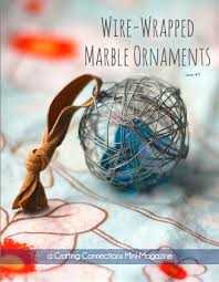 wire wrapped marble ornaments craft tutorial