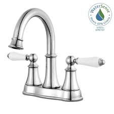 pfister bathroom sink faucets pfister courant 4 in centerset 2 handle bathroom faucet in polished