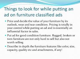How To Sell Used Sofa Selling Used Furniture With Classified Ads