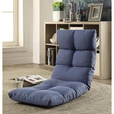 acme furniture morris gaming floor chair in blue 59606 the home