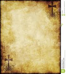 parchment writing paper parchment paper with cross stock photo image 19320800