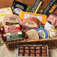 sausage gift baskets the gourmet food gift basket hickory smoked city ham inside