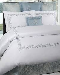 High End Bedding Dea Bedding Available In White Sateen With Pink Grey Aqua Or