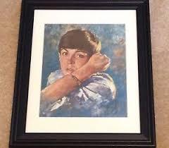 leo jansen 1960 s beatles painting print framed signed by leo jansen paul