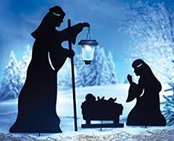 Christmas Outdoor Decorations Nativity Scene by Amazon Com 3 Pc Solar Lighted Nativity Scene Silhouette Display