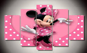 decoration chambre minnie framed printed minnie mickey painting on canvas room