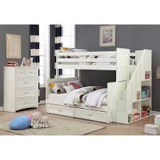 Jordan Furniture Bedroom Set Jordan 2 Piece Twin Over Full Staircase Bunk Bed Set