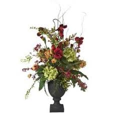 Faux Floral Centerpieces by 2 U0027 Orchids U0026 Pheasant Feathers Artificial Silk Flower Arrangement