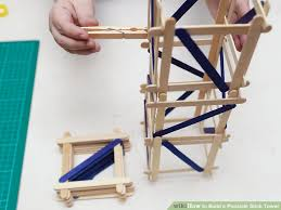 Blueprints To Build A Toy Box by How To Build A Popsicle Stick Tower 14 Steps With Pictures