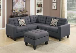 L Sectional Sofa by Corner L Sectional Sofa Couch Loveseat Wedge Tufted Ottoman Blue