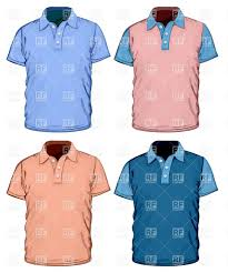 men u0027s color polo shirt design template vector clipart image 5186