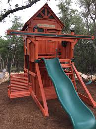 How To Build A Wooden Playset Backyard Adventures San Antonio Playsets Boerne Tx San