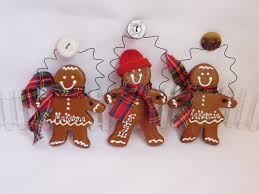 christmas garland gingerbread family personalized