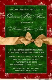 Christmas Baby Shower Invitations - christmas baby shower invitation fine red green u0026 gold