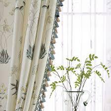 Tassels For Drapes Aliexpress Com Buy Korean Leaf Tassels Blackout Curtains For