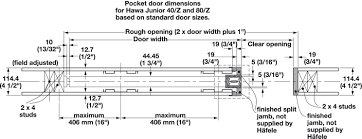 Hafele Recessed Cabinet Pulls by Pocket Door Framing Kit With Jr Sliding Hardware Futura In The