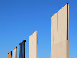 What Are Walls Made Of Photos Finished Prototypes Of Trump U0027s Border Wall Officially