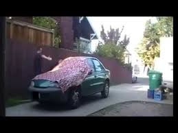 car wrapping paper birthday car prank involving christmas wrapping paper