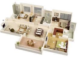 three bedroom houses bed 3d three bedroom house plans terrific house floor plan