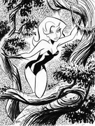 poison ivy storyboard bruce timm sketches lines