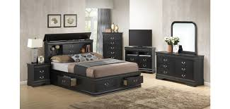 Real Wood Bedroom Set Black Solid Wood Bedroom Set G3150b