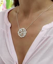 monogram necklace gold personalized silver monogram necklace 1 2 bestmonogramnecklace