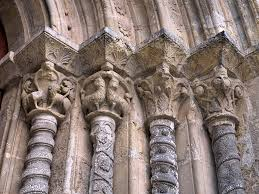 portuguese romanesque architecture wikipedia vegetalist and animal intricate capital and column carvings in santiago church