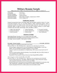 Military Resume Examples For Civilian Military To Civilian Resume Bio Letter Format