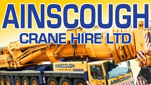 ainscough crane hire uk youtube