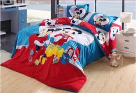 Mickey And Minnie Mouse Bedroom Set Red Mickey And Minnie Mouse Celebrate Christmas Bedding Kids