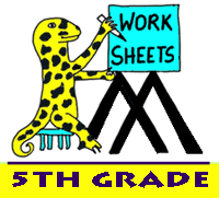 free 5th grade math worksheets