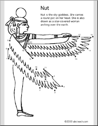 nut coloring page coloring page egypt nut abcteach