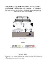 today night therapy platform metal bed frame foundation setsmartbase u2026