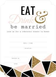 bridal dinner invitations modern geometric glitz fill in the blank rehearsal dinner