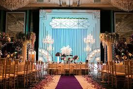 art deco wedding celebrations in shangri la island ballroom by