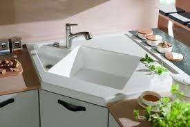 Kitchen Sink Modern Modern Kitchens With Space Saving And Ergonomic Corner Sinks