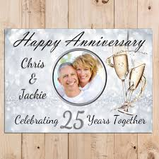 Invitation Cards For 25th Wedding Anniversary Personalised 25th Silver Wedding Anniversary Party Photo Banner