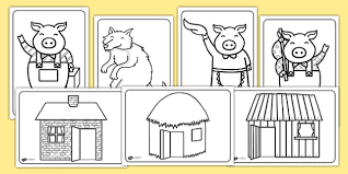 the three little pigs colouring sheets the three little pigs