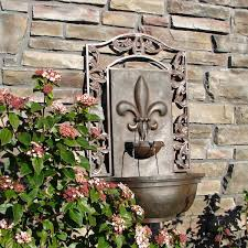 giovanni outdoor wall fountain weathered bronze discount fountains