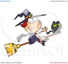 happy halloween clipart free royalty free rf clipart illustration of a happy halloween witch