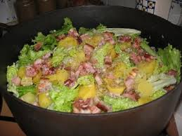 salade verte cuite recette cuisine la recette de la salade au lard la ferme du perré 51la ferme du