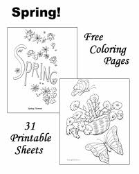 spring coloring sheets pictures