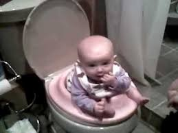 Potty Seat Or Potty Chair Potty Training A 5 Month Old Baby Youtube