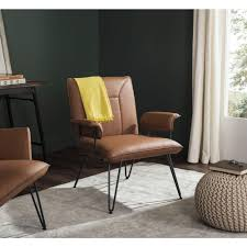 Camel Leather Chair Safavieh Johannes Camel Leather Arm Chair Fox1700c The Home Depot