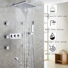 2017 waterfall bathroom shower faucet set chrome shower head 2017 waterfall bathroom shower faucet set chrome shower head bathroom products accessories wall mounted bath shower water mixer tap from tonylin65