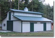 Barn Kits Oklahoma Horse Barns U0026 Shelter Kits Hansen Pole Buildings